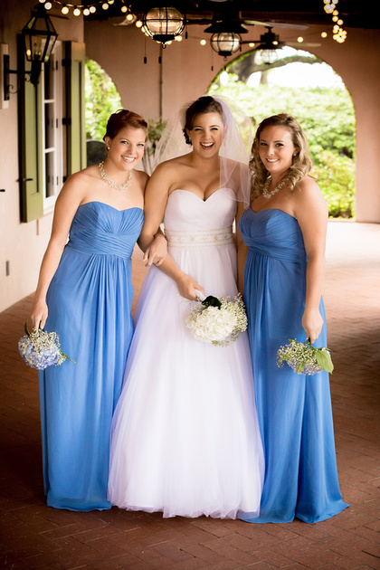 The bride and her girls before the ceremony