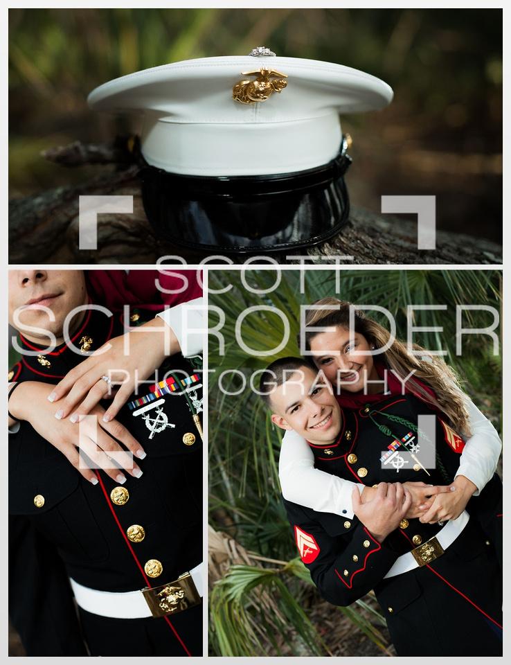 Marine engagement photo